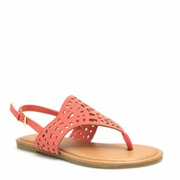 Out And About Laser Cut-Out Sandals