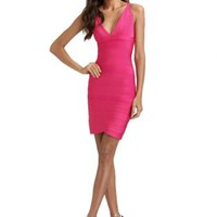Bqueen Amanda Bynes In Scoopneck Tank Dress #dress #pink #vneck #deepv #partydress #bodycon #chic