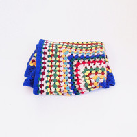 Multicolor plaid knitted wool
