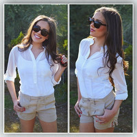 Closet Candy Boutique · Weekends At The Country Club Shorts - Khaki