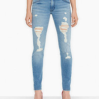 Levi's® Juniors' 524 Destroyed Skinny Jeans