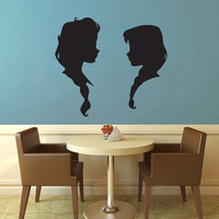 Elsa and Anna Silhouette Set - Frozen - Wall Decal