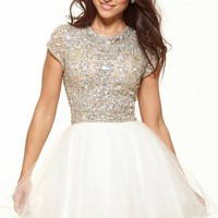 Beaded Mini Dress by Terani Couture Prom