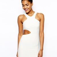 Oh My Love Cut Out Body-Conscious Dress - Cream