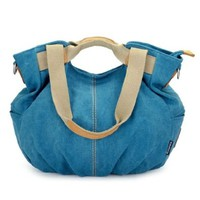 Candy Color Canvas Tote Purse Cross Body Shoulder Bag