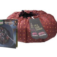 Wonderbag Portable Slow Cooker with Recipe Cookbook, Red Batik