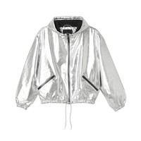 Suri silver jacket | New Arrivals | Monki.com