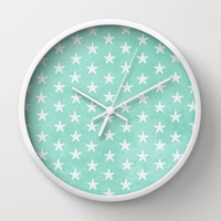 FREE SHIPPING! Starfish { Mint Green } Wall Clock by alterEGO