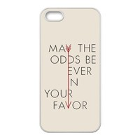 First Design Custom The Hunger Games Quotes Arrow May The Odds Be Ever In Your Favor Best Durable RUBBER Silicone Iphone 5 5S Case
