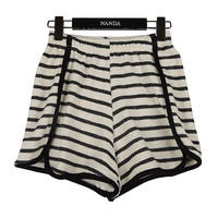 Striped Jersey Shorts