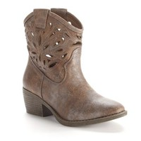 SO® Cutout Cowboy Ankle Boots - Women