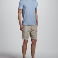 Cotton-Linen Shorts, Tan