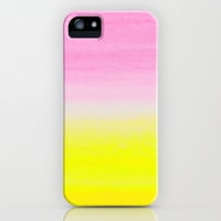 WHEN PINK MET YELLOW iPhone & iPod Case by Rebecca Allen