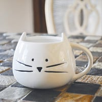 Back in Stock!! Cute Cat Mug {Limited Quantity} >> 2 Color Options - 12 oz. Coffee Mug - Tickled Teal