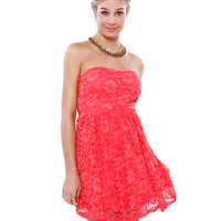 Papaya Clothing Online :: BACK BOW LACY MINI DRESS