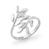 925 Sterling Silver Cute Ivy Leaf Design Polished Finish Band Ring for Women