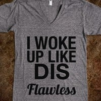 I WOKE UP LIKE DIS FLAWLESS V-NECK T-SHIRT (IDB321920)