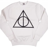 21 Century Clothing Unisex-Adult Harry Potter Deathly Hallows Sweatshirt