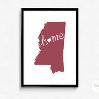 Mississippi Home Wall Art Printable Poster - State of Mississippi Typography Poster - Digital 8x10 Art Print - Wall Art - INSTANT DOWNLOAD