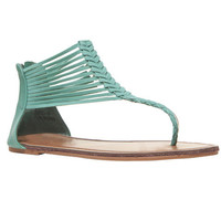 Strappy Braided Faux Suede Sandals | Wet Seal