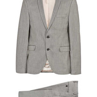 Selected Homme grey herringbone Suit - Branded Suiting - Suits - TOPMAN