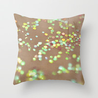 Vintage Confetti 2 Throw Pillow by Lisa Argyropoulos