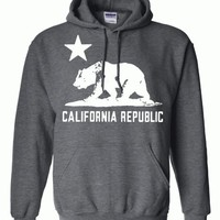 California Flag White Oversized Silhouette Asst Colors Hoodie by DSC