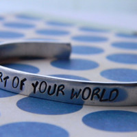 part of your world little mermaid inspired aluminum bracelet