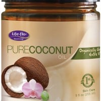 Life-Flo Organic Pure Coconut Oil, 9 Ounce