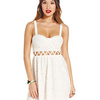Material Girl Juniors' Knit Cutout Bustier Dress