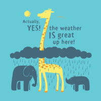 The Weather Is Great Up Here! T-Shirt | SnorgTees