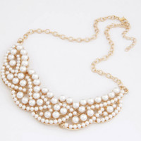 Pearl Pedals Fashion Necklace