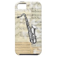 Vintage Saxophone Music iPhone Case