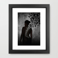 The Butterfly Transformation II Framed Art Print by Nicklas Gustafsson