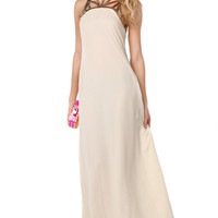 Lumier Metallic Lasercut Maxi Dress