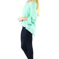 Sincerely Yours Blouse - Mint