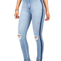 Deep Streak High Waist Skinnys | Jeans at Pink Ice