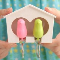 Couple Bird Nest Whistle Key Holder Key Hook Rack His and Hers