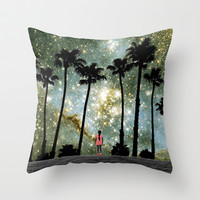 Paradise Galaxy Dream Throw Pillow by RichCaspian