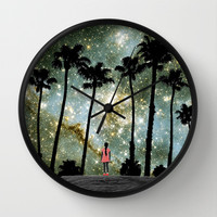 Paradise Galaxy Dream Wall Clock by RichCaspian