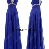 Sweetheart Long prom Dress - Blue Prom Dress / Cheap Evening Dress - Blue Evening Dress / Prom Dress / Long Prom Dresses