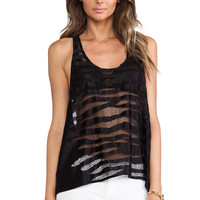 Alexis Brill Racerback Tank in Black Safari from REVOLVEclothing.com