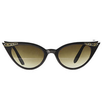 Luella Cat Eye Sunglasses in Noir - PLASTICLAND