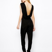 ASOS Slinky Jumpsuit with Cowl Back