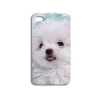 White Puppy Phone Case Cute iPod Case Dog iPhone Case iPhone 4 Case iPhone 4s Case iPhone 5 Case iPhone 5s Case iPod 5 Case Fun iPod 4 Case