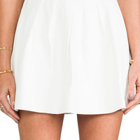 This is a Love Song Strike Plain Leather Mini Skirt in White from REVOLVEclothing.com