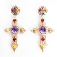 BADACIOUS Joy Jewel Cross Earring | Patricia Field