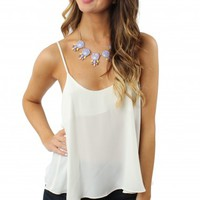 Essential White Button Tank