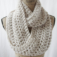 Erin Wheat Infinity Crochet Scarf Cowl Loop Circle Accessory Made To Order