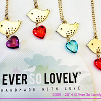 I Carry Your Heart With Me Love Bird Necklace